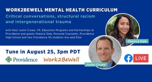 Work2BeWell & Providence High School Mental Health Curriculum