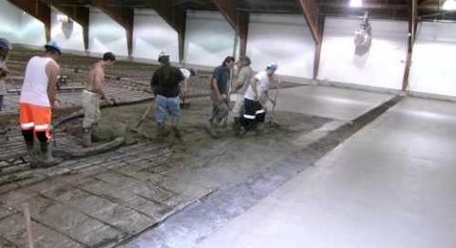 Pouring the Curling Floor June 21, 2011
