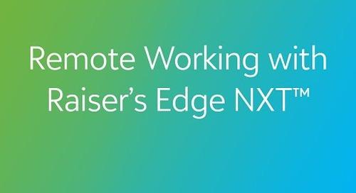 Remote Working with Raiser's Edge NXT