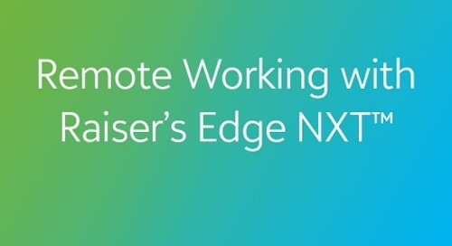 COVID-19: Remote Working with Raiser's Edge NXT