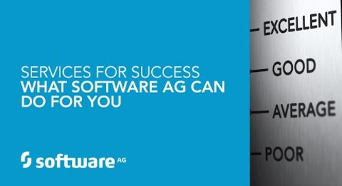 Services for Success – What Software AG Can do for You