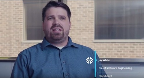 Blackboard: Accelerating Performance & Predictive Data Modeling with Snowflake