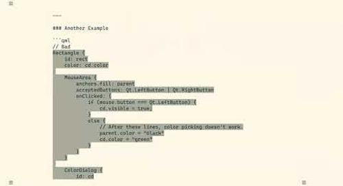 Community Driven QML Coding Guidelines - Autodesk {Qt Virtual Tech Con 2020}