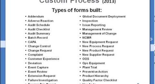 MasterControl Forms Frustrations? Three Options for Custom Processes