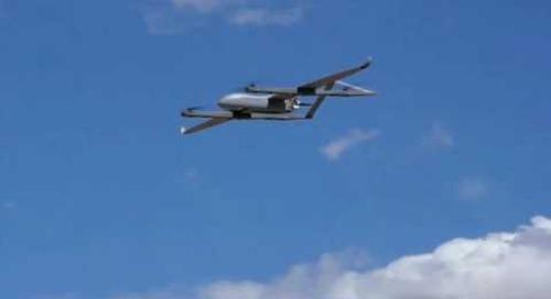AUSA 2016: Textron Aerosonde Hybrid Quad SUAS (Small unmanned aerial systems)