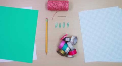 DIY Washi Tape Notebook and Pencil