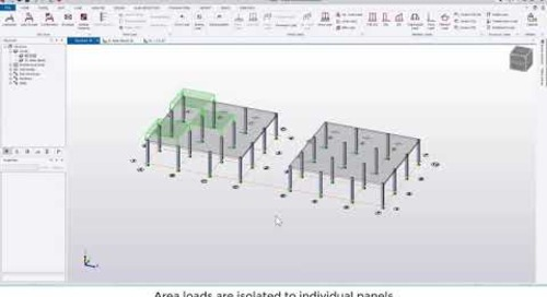 Tekla Structural Designer 2020 - Difference between area load options