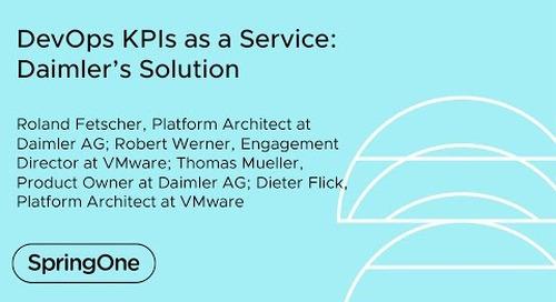 DevOps KPIs as a Service: Daimler's Solution