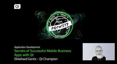Secrets of Successful Mobile Business  Apps with Qt   Ekkehard Gentz   Qt Champion