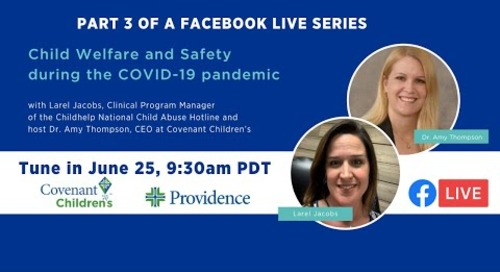 Child Welfare and Safety during the COVID-19 pandemic
