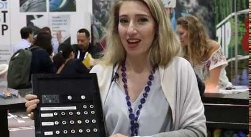 Ermina Koutavas introduces YKK's Environmentally Friendly Aluminum Snap at the Outdoor Retailer Show