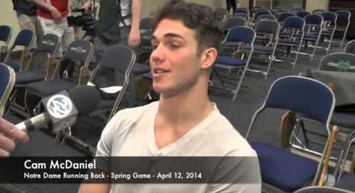Cam McDaniel Talks After Notre Dame Spring Game