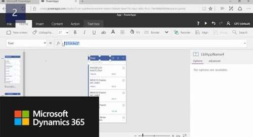 How Do I: create PowerApps with Data from Microsoft Dynamics NAV 2017