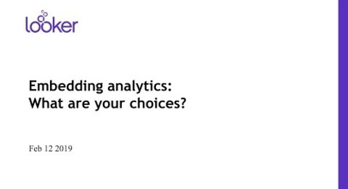 Embedding analytics:  What are your choices?