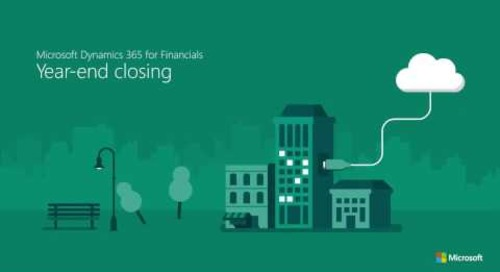 Year-end closing in Dynamics 365 for Finance & Operations, Business edition
