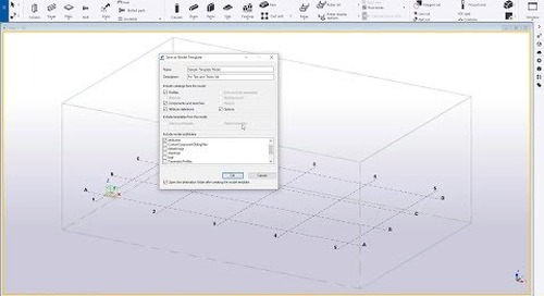 Creating Model Templates in Tekla Structures