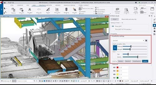 Tekla Structures 2020 - Point Cloud Visualization Settings