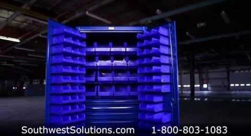 Forkliftable Industrial Storage Cabinet Heavy Duty Locking Bins