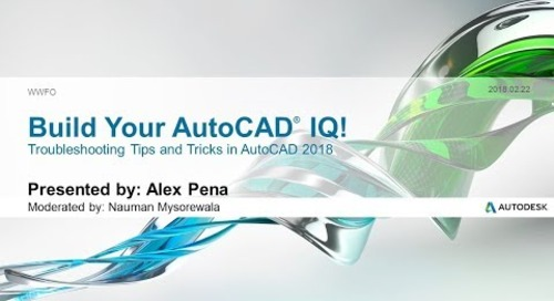 Webinar: Troubleshooting Tips & Tricks in AutoCAD | AutoCAD LT 2018