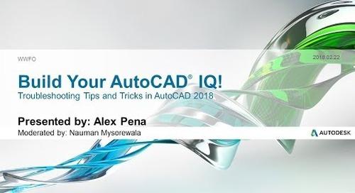 Webinar: Troubleshooting Tips & Tricks in AutoCAD | AutoCAD LT 2018