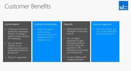 What's New In Microsoft Dynamics NAV 2018  - Employee Ledger  Entries