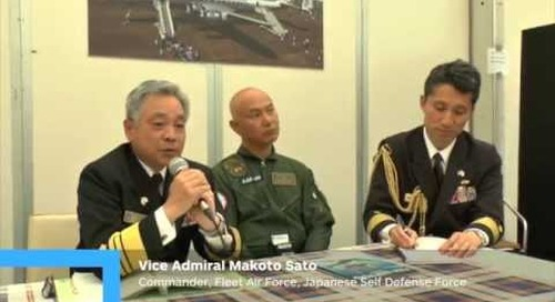 Vice Admiral Makoto Sato Commander, Fleet Air Force, Japanese Maritime Self- Defense Force talks abo
