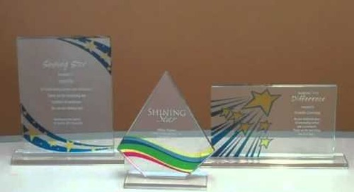 Brilliant Colored Glass Recognition Awards