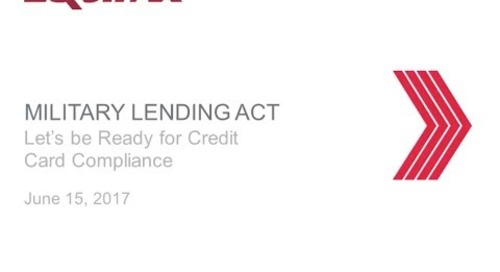 Military Lending Act – Credit Card Compliance
