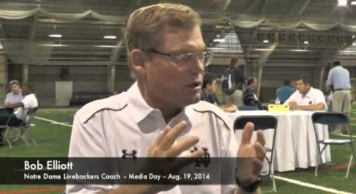 Notre Dame LB Coach Bob Elliott - Media Day 2014