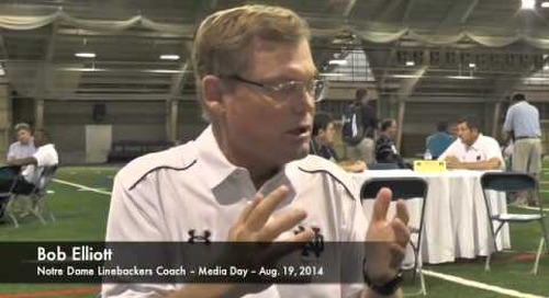 Notre Dame LB Coach Bob Elliott - Media Day 2014