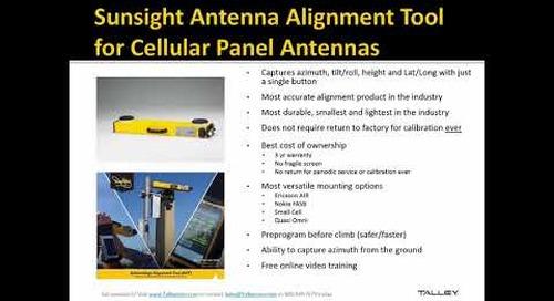Talley Webinar Series - Sunsight Instruments 11/9/2017