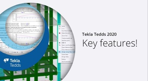 Tekla Tedds 2020 - Key features