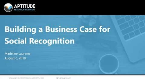 The ROI of Investing in Social Recognition Technology - Webinar