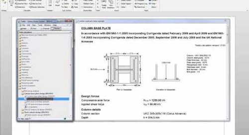 Linking Tekla Tedds Calculations