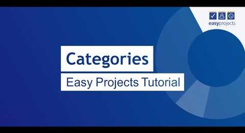 Categories - Easy Projects Tutorial