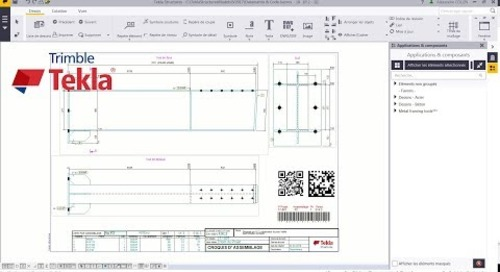 Astuce Tekla Structures : Flash code (QR code, Barcode, Data Matrix)