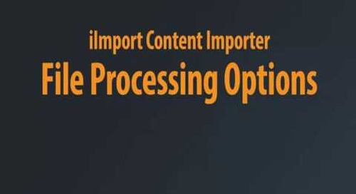 iImport - Content Importer Setting Up A Job Chaptered