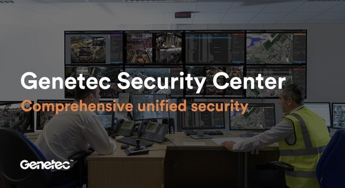 Be secure. Today and tomorrow. Security Center unified security platform