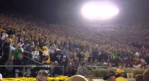 Notre Dame Fans Say Goodbye To Michigan