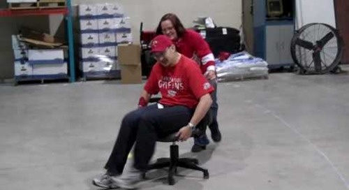 Baudville Employee Appreciation Day Chair Luge Red Team