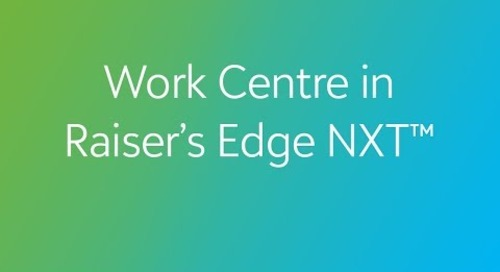Raiser's Edge NXT - Work Centre