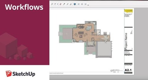 SketchUp for Construction Documentation: Layout Floor Plans Template