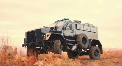 AAD 2016: DCD Springbuck XD EOD vehicle