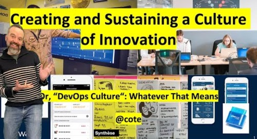 Creating and Sustaining a Culture of Innovation I VMware Tanzu