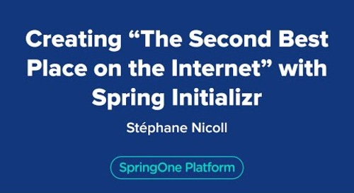 """Creating """"The Second Best Place on the Internet"""" with Spring Initializr"""