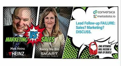 Webinar: Lead Follow-Up Failure. Sales or Marketing? Discuss.