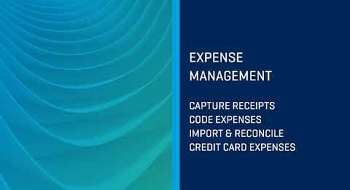 Expense Management using Viewpoint HR Management