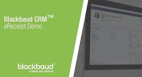 Blackbaud CRM™  eReceipt Demo