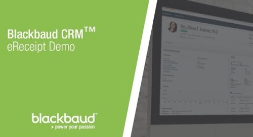 Blackbaud CRM™  eReceipt Demo