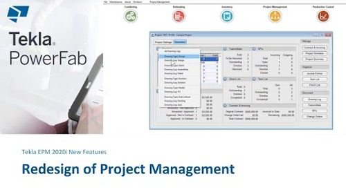 Greater Visibility of Key Project Information in Tekla EPM 2020i